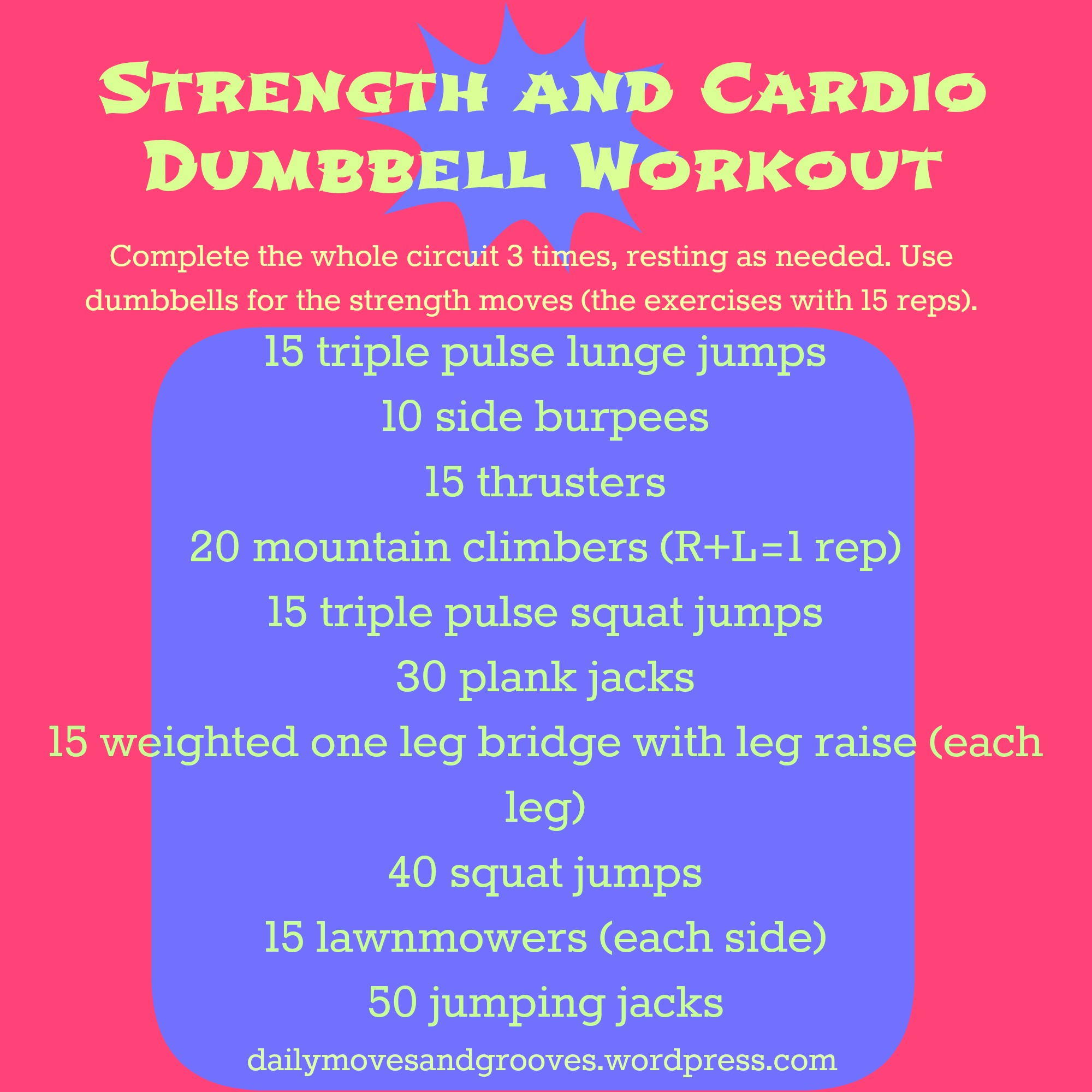Cardio Strength Workout: Thursday Things + Strength And Cardio Circuit Workout
