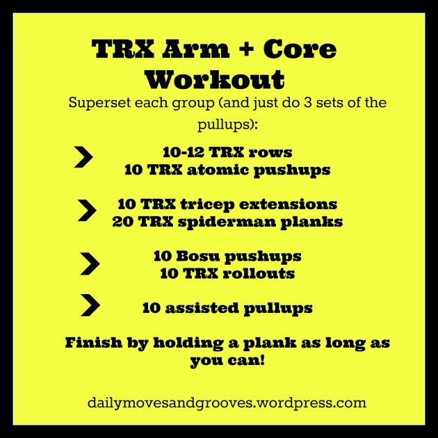 trx arm and core workout