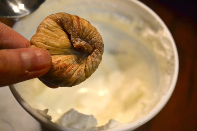 dried figs and greek yogurt