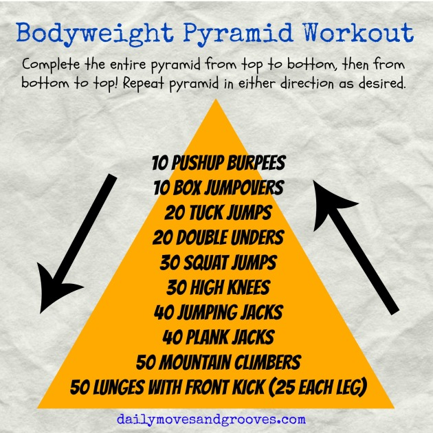 bodyweight pyramid workout