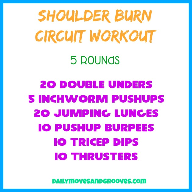 shoulder burn circuit workout